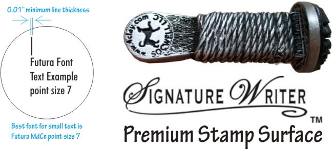 example of metal clay stamp
