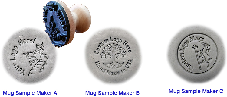 stamps you can use to make sample mugs for your show room
