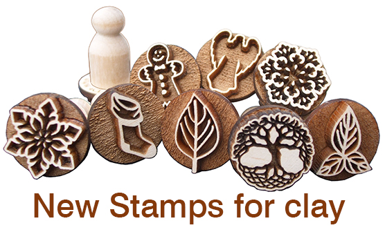 Click here to see new stamps for ceramic clay