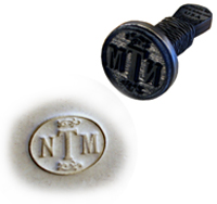 your initials clay marking stamp without any artwork needed