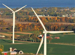click on windmill image to see chart of green-e energy sources