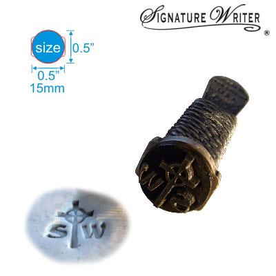 Mango de peltre sin plomo con superficie Signature Writer (R) para marcar arcilla blanda