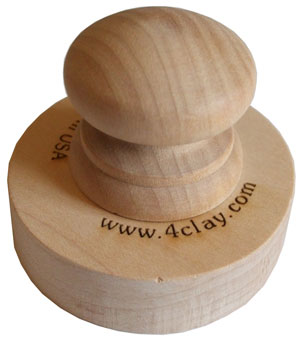 Circle shape clay marking stamp