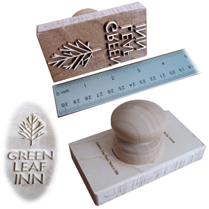 Large wood stamps made of maple