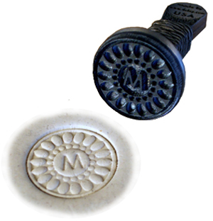 Signature Writer Stamps - pewter handle
