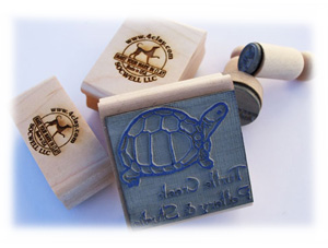 Rubber stamps for underglaze or ink