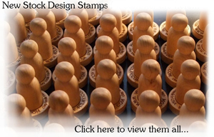 300 stock design clay stamps
