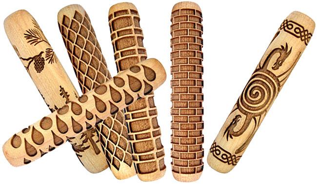 Rodillos de madera de 4pulgadas