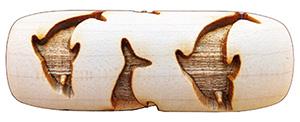 Rodillo para arcilla con diseño de delfines