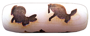 rabbits and bunnies wood rolling pin