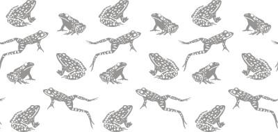 Frogs roller pattern