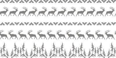 north woods elk and pine trees roller pattern