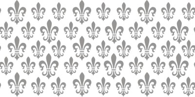 Fleur de Lis roller pattern