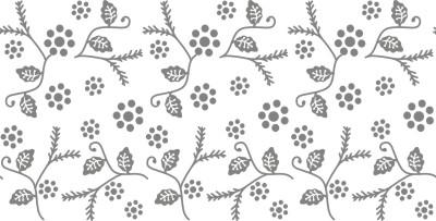 Floral pattern roller