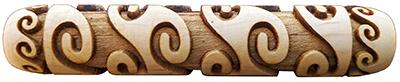 Greek Ocean wood roller for clay