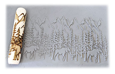 example roll out of clay mark mountain forest moose