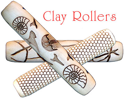 Custom clay stamp rollers from your designs