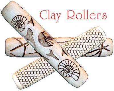 Rodillos para estampar arcilla personalizados con sus diseños