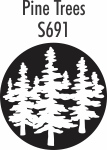 Pine Trees to match roller SD2229