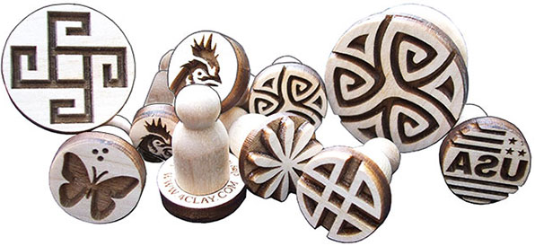 New Clay Stamps now available in 8 sizes