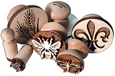 maple wood stamps for ceramic clay